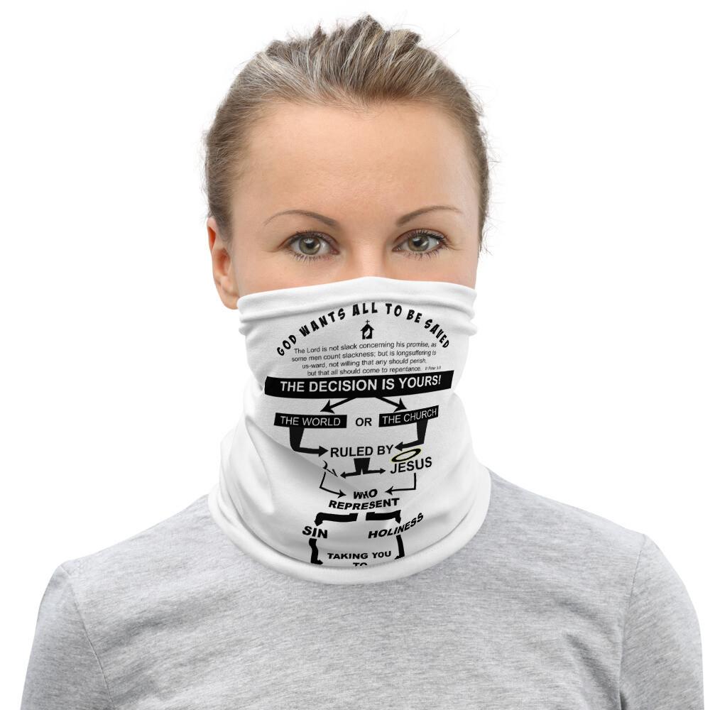 Witness Heaven or Hell Neck Gaiter Face Mask