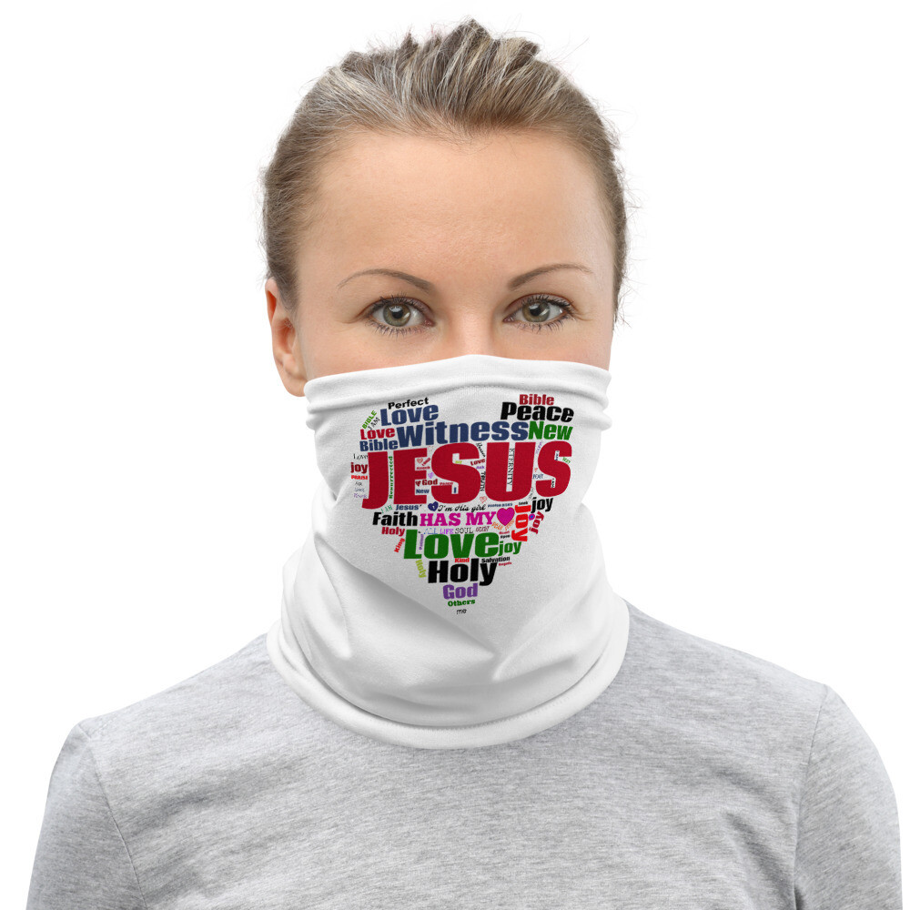 JESUS Has My Heart Neck Gaiter Face Mask