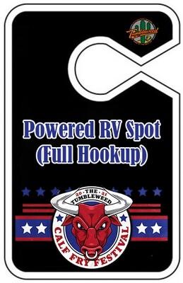 Calf Fry 2021 3 Day - Powered RV Spot (Full Hookup)