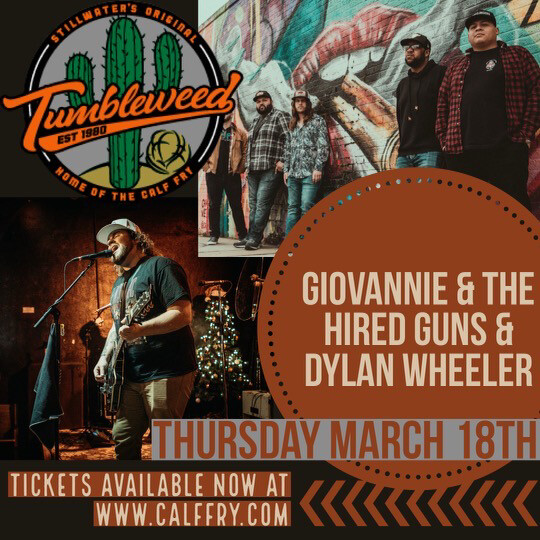 Giovannie & The Hired Guns & Dylan Wheeler - Thursday March 18 2021