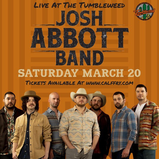Josh Abbott Band - Saturday March 20 2021