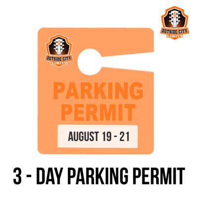 """OCL"" Outside City Limits 2021 3 Day - Parking Pass"
