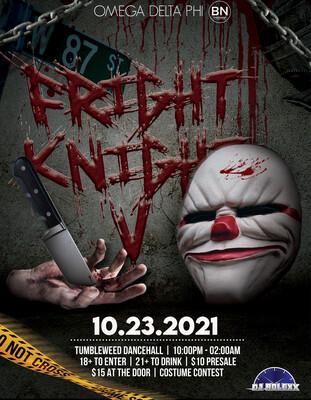 FRIGHT KNIGHT - Saturday October 23 2021