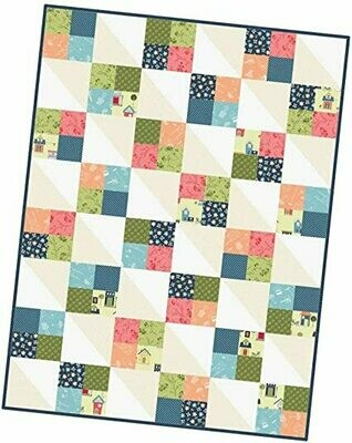 Make Yourself at Home Four Square Quilt Precut Kit - POD by Maywood Studios