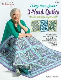 Pretty Darn Quick! 3-Yard Quilts Pattern Book by Fabric Cafe