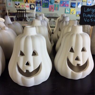 Large pumpkin votive