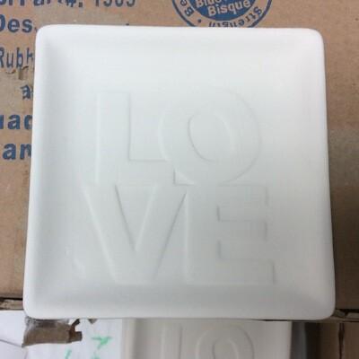 Love word plate