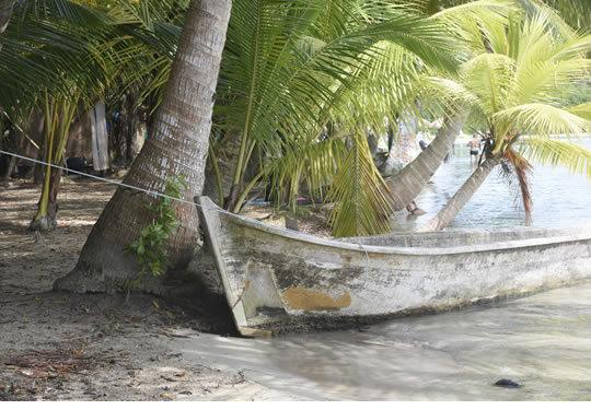 Boat on The Beach Panama Photographic Print