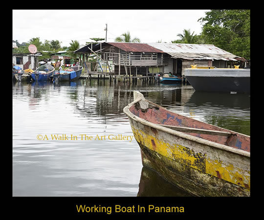 Working Boat In Panamá Photographic Print