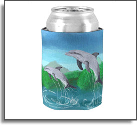 Dolphin Bay Koozie