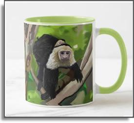 White Faced Capuchin Monkey Mug