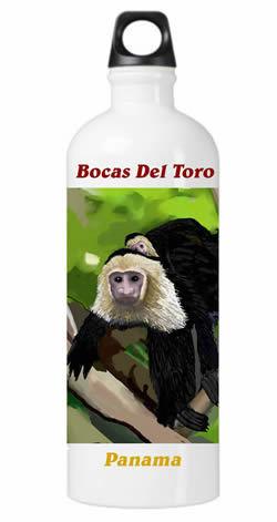 White Faced Capuchin Monkey Water Bottle