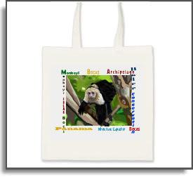 White Faced Capuchin Monkey Tote Bag