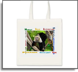 White Faced Capuchin Monkey Tote Bag
