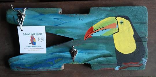Toucan Driftwood Coat Rack