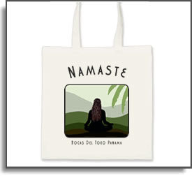 Namaste Yoga Girl Tote Bag