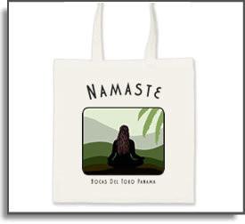 Namaste Yoga Girl Tote Bag