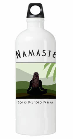Namaste Yoga Girl Water Bottle