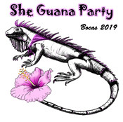 She Guana Party Watercolor & Ink Prints