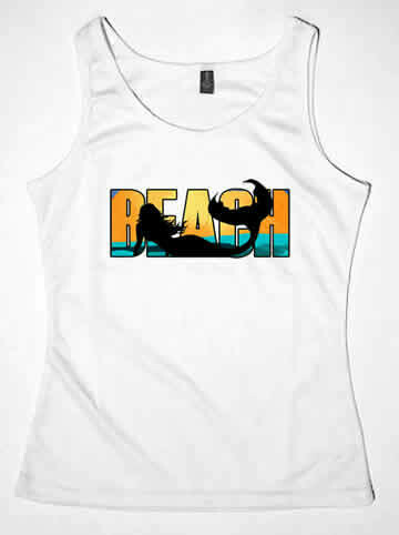 Beach Mermaid  T-Shirts & Tanks