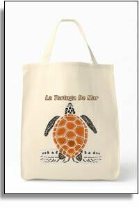 Tortuga De Mar Grocery Tote Bag