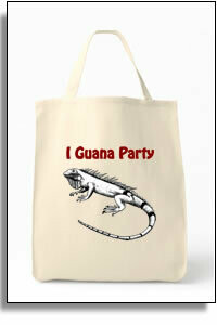 I Guana Party  Grocery Tote