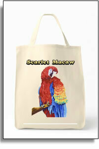Scarlet Macaw Grocery Tote