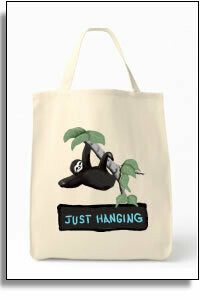 Just Hanging Sloth Grocery Tote Bag