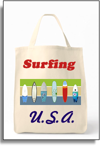 Surfing USA Grocery Tote