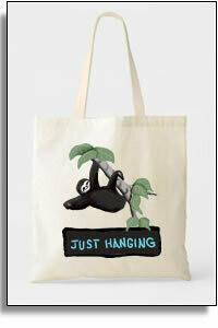 Just Hanging Sloth Budget Tote Bag
