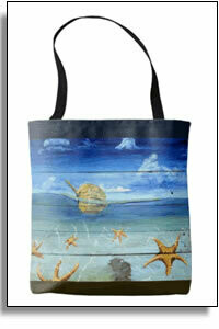Starfish Beach All Over Printed Tote Bags