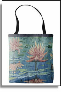 Peach Lilies Tropical All Over Printed Tote