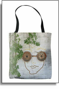 Crazy Guy Wearing Googles All Over Printed Tote