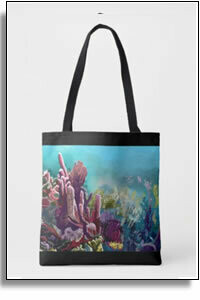 Crawl Cay Coral Reef All Over Printed Tote Bags