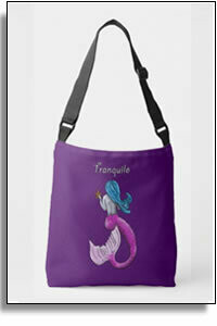 Tranquilo Mermaid All Over Printed Tote Bags