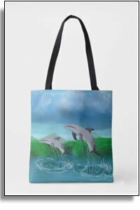Dolphin Bay All Over Printed Tote