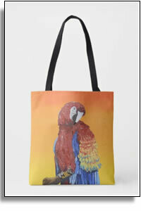 Amazon Parrot All Over Printed Tote Bags