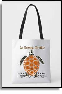 Tortuga Del Mar All Over Printed Tote Bag