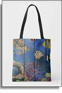 Debajo Del Agua All Over Printed Tote Bags