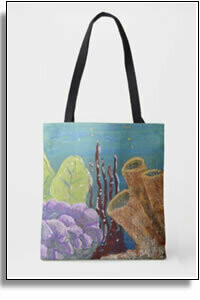 Underwater Garden All Over Printed Tote