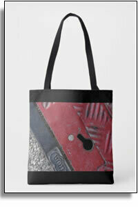 Red Road All Over Printed Tote Bags