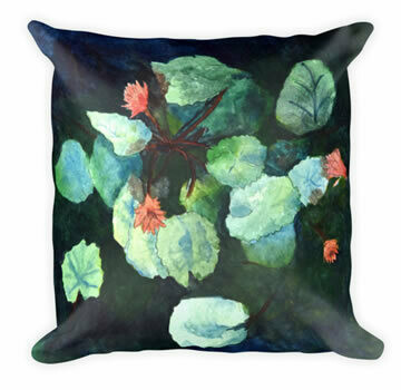 Lilies In Water Throw Pillow