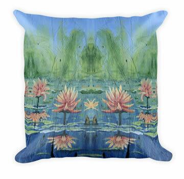Peach Lilies Throw Pillow