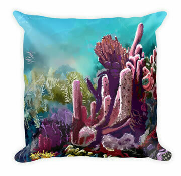 Crawl Cay Coral - Designer Throw Pillow