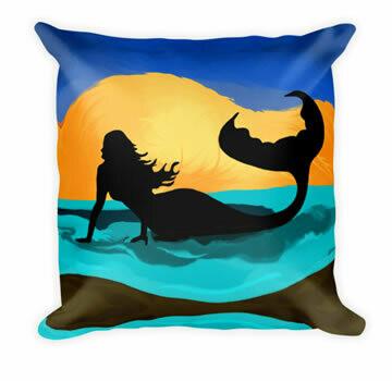 Mermaid- Designer Throw Pillow