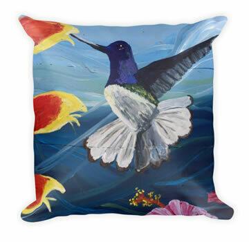 Hummingbird - Designer Throw Pillow