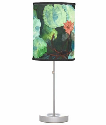 Lilies in Water Table Lamp