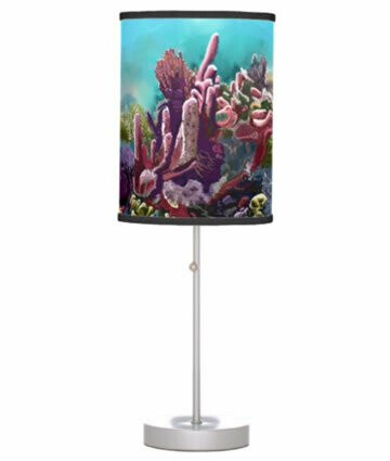 Crawl Cay Coral Reef Table Lamp