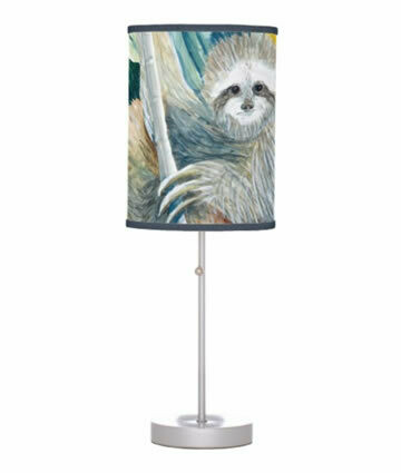 Sloth In The Rainforest Table Lamp