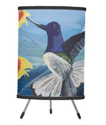 Hummingbird Tripod Table Lamp